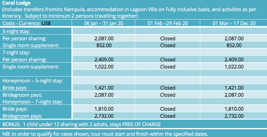 Beach Holidays accessed from Nampula 1